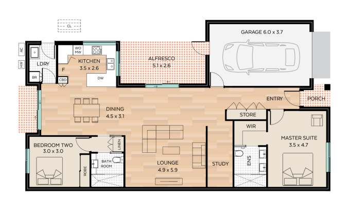 Torquay floor plan - click to expand