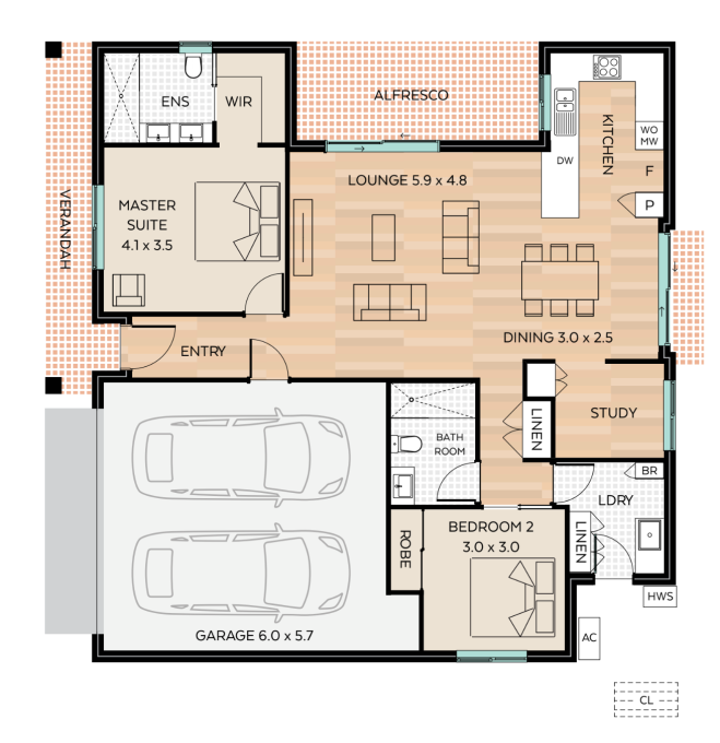 Breamlea floor plan - click to expand