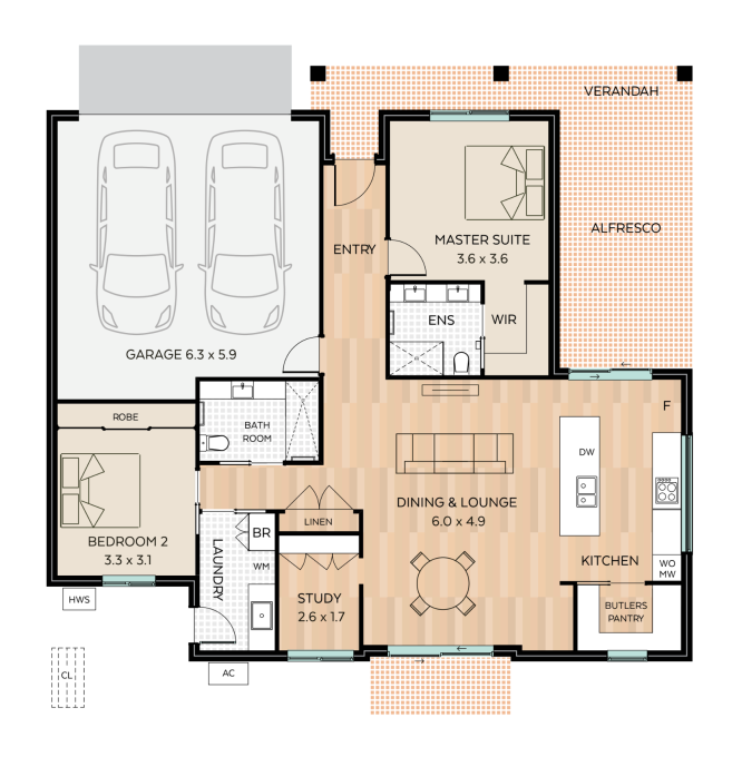 Duneed floor plan - click to expand