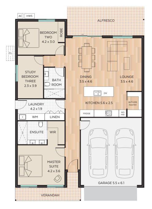 Arlington floor plan - click to expand